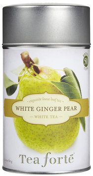 Tea Forte Loose Tea Canister-White Ginger Pear, 2.1 oz, 50 servings