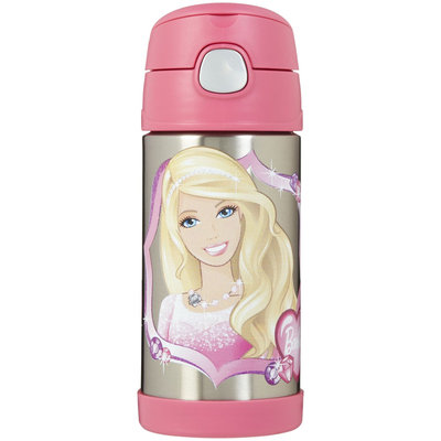 Thermos Funtainer Straw Bottle - Barbie - 12 oz - 1 ct.