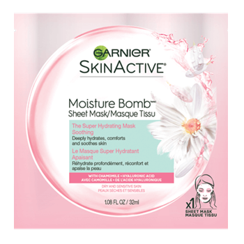 Garnier SkinActive Moisture Bomb The Super Hydrating Soothing Sheet Mask