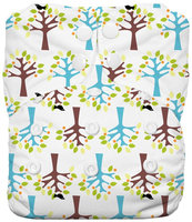 Thirsties One Size All In One Diaper Snap - Blackbird