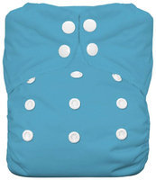 Thirsties One Size All In One Diaper Snap - Ocean Blue