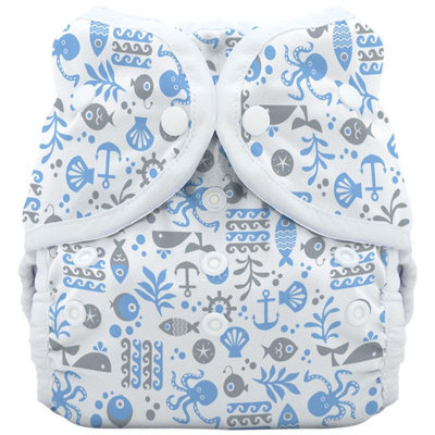 Thirsties Duo Wrap Cloth Diaper Cover- Snap - Ocean Life - 1 ct.