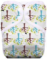 Thirsties One Size Snap Pocket Diaper - Blackbird