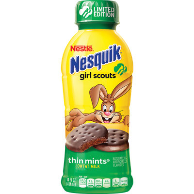 Nesquik® Girl Scouts® Thin Mint® Flavored Low Fat Milk