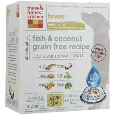 Honest Kitchen Brave Dehydrated Dog Food 4 lbs