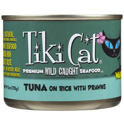 Tiki Cat Waimea Luau Tuna On Rice With Prawns Canned Cat Food 6 oz. (Case of 8)