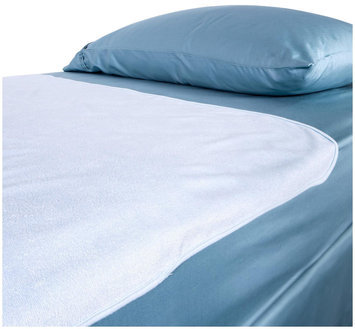 Chummie Luxury Reusable Bamboo Rayon Waterproof Bedding Overlay for Bedwetting - Blue