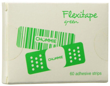 Chummie Flexitape Quick Peel Easy Stick, Pack of 60 tapes- Green - 1 ct.