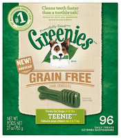 Greenies Grain Free Dental Chews 10.13lb Teenie (6 x 27oz)