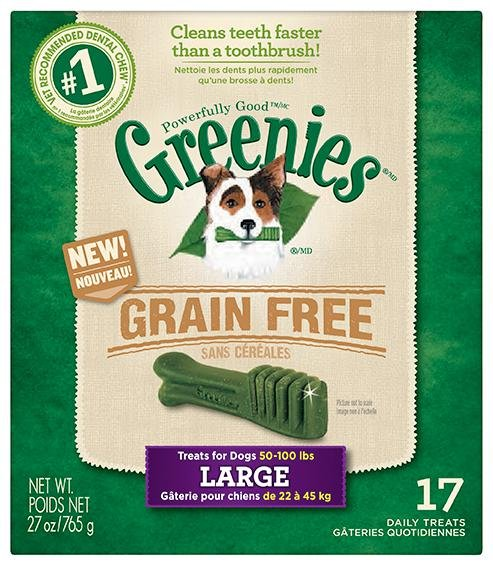 Greenies Grain Free Dental Chews 10.13lb Large (6 x 27oz)