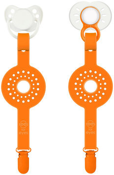 Toes For Eyes Paciplay Teethable Pacifier Holder in Orange Dot
