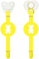 Toes For Eyes Paciplay Teethable Pacifier Holder in Yellow Bear