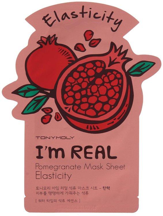 Tony Moly - I'm Real Pomegranate Mask Sheet (Elasticity) 10 pcs