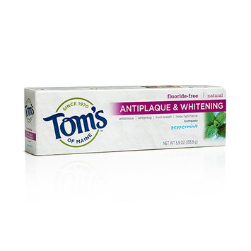 Tom's OF MAINE Peppermint Fluoride-Free Antiplaque & Whitening Toothpaste