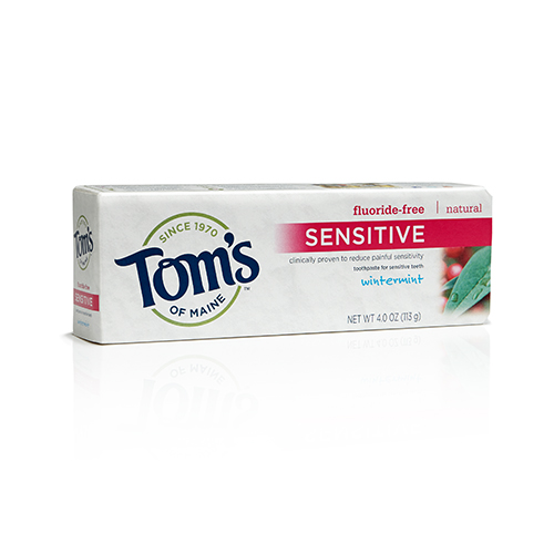 Tom's of Maine's Fluoride-Free Sensitive Toothpaste