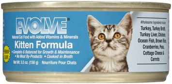 Triumph Pet-sunshine Mill Evolve Canned Kitten Food Turkey 5.5Oz 24 pack