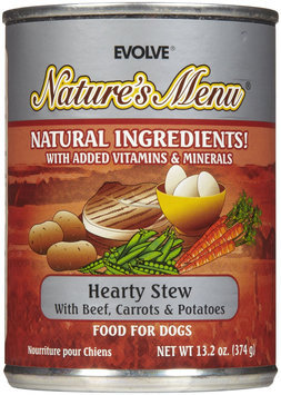 Evolve Nature's Menu Hearty Stew Dog Food - 12x13.2oz