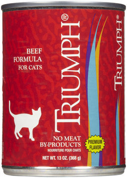 Zeigler's Distributor Inc Triumph Adult Can Cat Food Case 13oz Beef