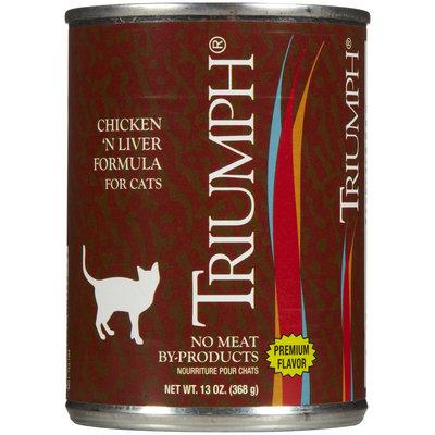 Triumph Chicken & Liver Cat Food - 12x13oz