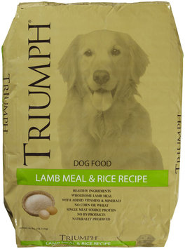 Triumph Pet-sunshine Mill Triumph PetSunshine Mill 38007 Lamb/Rice Lamb Meal Rice 1 40 Pound
