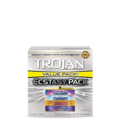 TROJAN™ ECSTASY™ Pack Lubricated Condoms