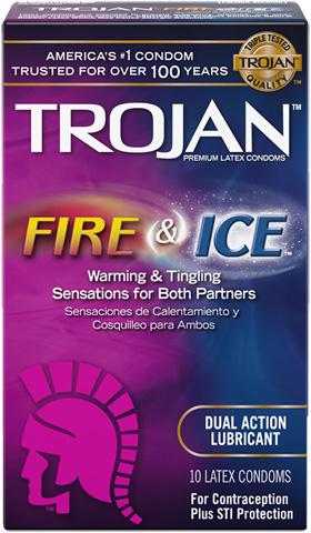 TROJAN™ Fire & Ice™ Lubricated Condoms
