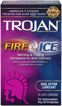TROJAN™ Fire & Ice™ Lubricated Condoms