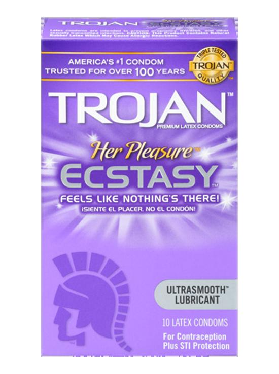 TROJAN™ Her Pleasure™ ECSTASY™ Lubricated Condoms