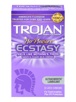 TROJAN™ Her Pleasure™ ECSTASY™ Lubricated Condoms