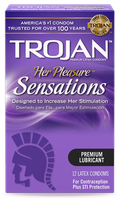 TROJAN™ Her Pleasure™ Sensations Lubricated Condoms