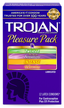 TROJAN™ Pleasure Pack Lubricated Condoms