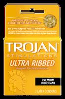 TROJAN™ Stimulations Ultra Ribbed Lubricated Condoms