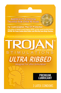 TROJAN™ Stimulations Ultra Ribbed Lubricated Condoms