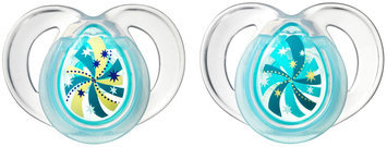 Tommee Tippee Closer to Nature Night Pacifiers - Blue - 6 - 18 Months - 2 - 2 ct.