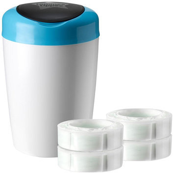 Tommee Tippee Simplee Diaper Pail + 4pk Cassette, Blue