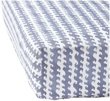 Serena & Lily Wave Crib Sheet - Blue - 1 ct.