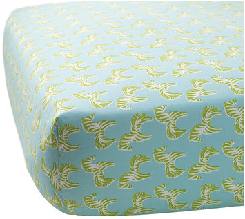 Serena & Lily Zebra Crib Sheet- Lime - 1 ct.