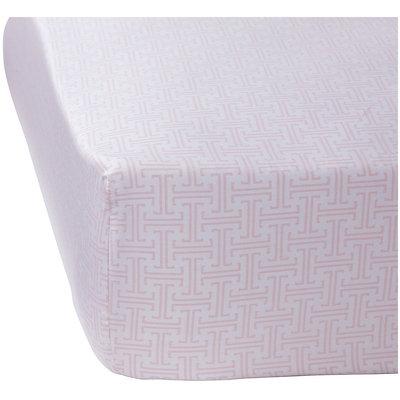 Serena & Lily Trellis Crib Sheet - Shell - 1 ct.