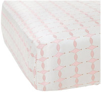 Serena & Lily Scroll Crib Sheet - Shell - 1 ct.