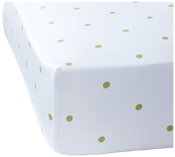 Serena & Lily Penny Dot Crib Sheet- Sprout - 1 ct.