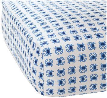 Serena & Lily Crab Crib Sheet- Blue