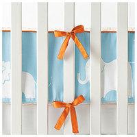 Serena & Lily Ben Crib Bumper- Aqua/Orange - 1 ct.