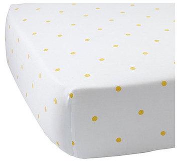 Serena & Lily Penny Dot Crib Sheet - Sunshine - 1 ct.