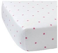 Serena & Lily Penny Dot Crib Sheet - Melon - 1 ct.