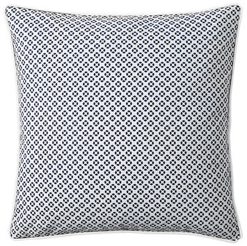 Serena & Lily Cut Circle Dec Pillow Cover- Navy