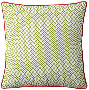 Serena & Lily Cut Circle Dec Pillow Cover- Grass