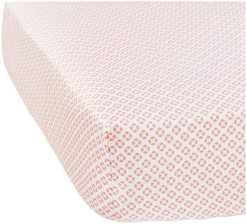 Serena & Lily Cut Circles Crib Sheet - Peony