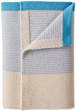 Serena & Lily Sweater Knit Baby Blanket - Chambray/Cyan - 1 ct.