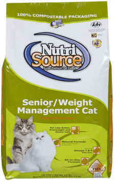 Nutri-source Senior Weight Management Cat Food - Size: 6.6-lb bag