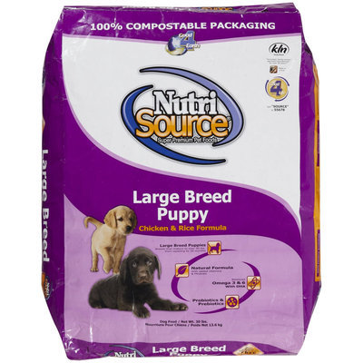 Super-dog Pet Food Company Tuffies Pet Nutrisource Large Breed Puppy Dry Dog Food 30 Lb bag